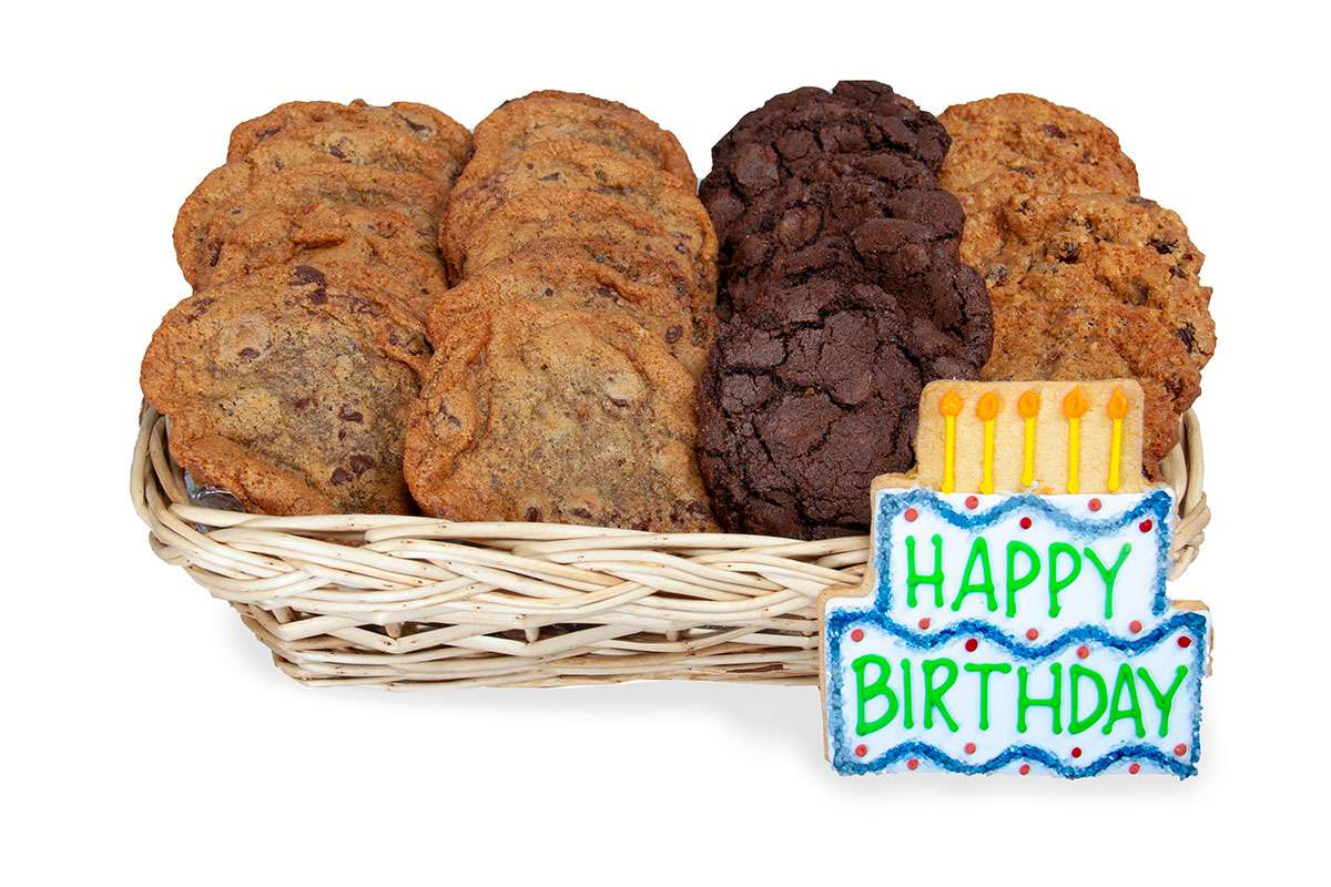 Wish A Happy Birthday In Montreal By Sending Gourmet Cookies This Unique Gift Basket Is Hand Delivered
