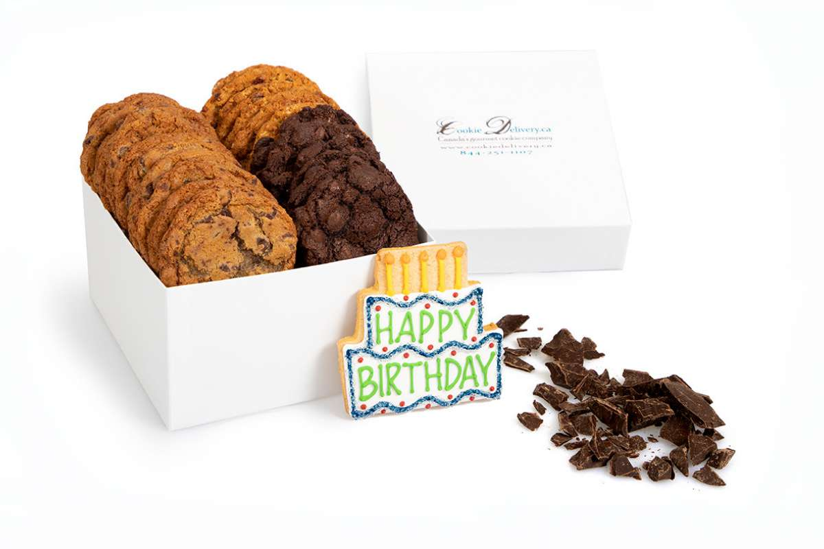 Happy Birthday Gift Box Gift Boxes Cookie Deliveryca Montral